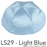 LS29 - Light Blue Kippah Bulk Kippot Lined Satin