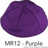 MR12 - Purple Kippah Bulk Kippot Moire