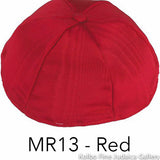 MR13 - Red Kippah Bulk Kippot Moire