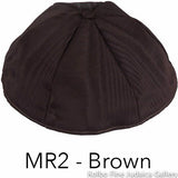 MR2 - Brown Kippah Bulk Kippot Moire