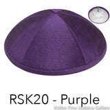 RSK20 - Purple Kippah Bulk Kippot Raw Silk