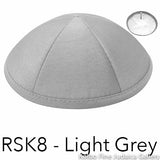 RSK8 - Light Grey Kippah Bulk Kippot Raw Silk