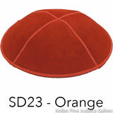SD23 - Orange Kippah Bulk Kippot Suede