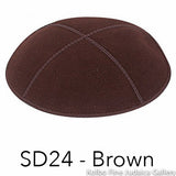 SD24 - Brown Kippah Bulk Kippot Suede