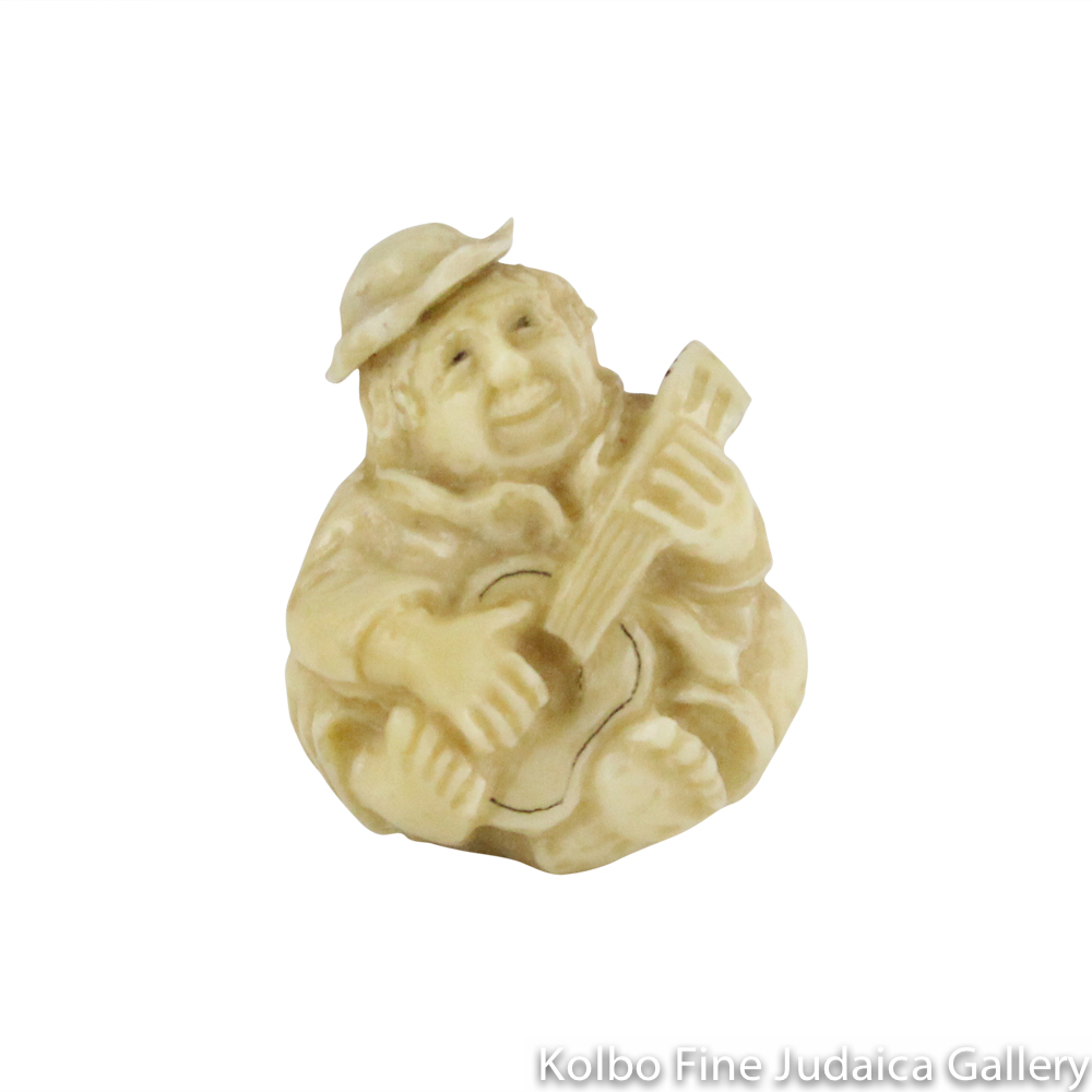 Collectable, Guitarist, Small Size, Hand-Carved from Tagua Nut