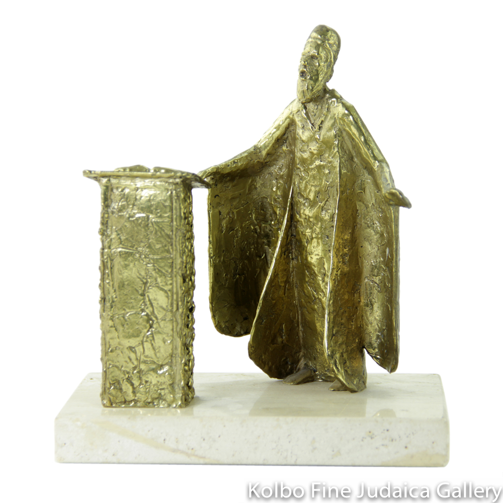 Cantor, Bronze Sculpture on Marble Base, 7'', Limited Edition of 18 Pieces