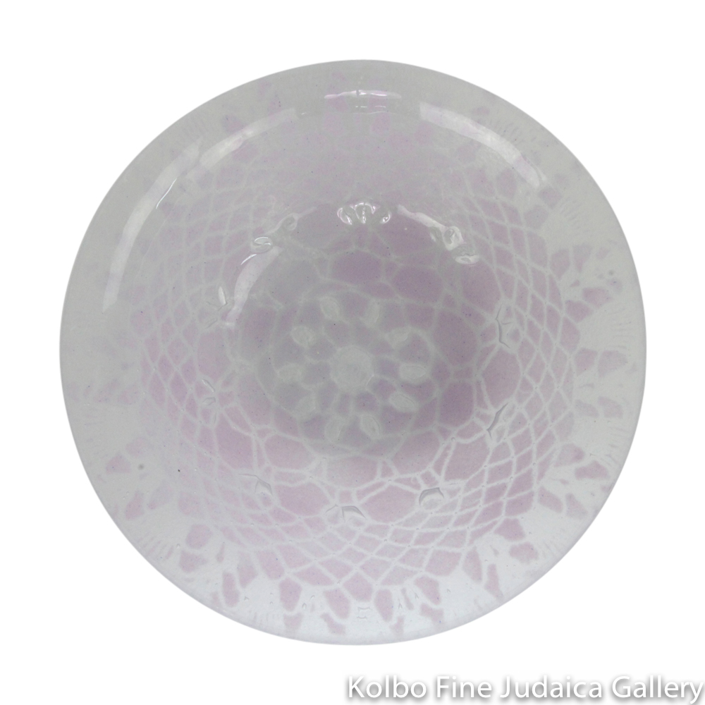 Serving Dish, Glass with Assorted Lavender Patterns, Medium