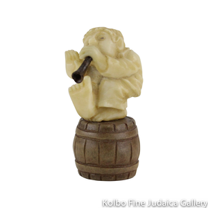 Collectable, Horn Player, Small Size, Hand-Carved from Tagua Nut and Wood