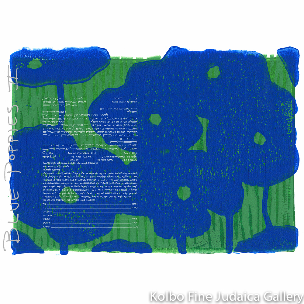 Blue Poppies II Ketubah