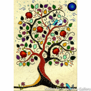 Tree of Life Painting, Large Vertical, Framed