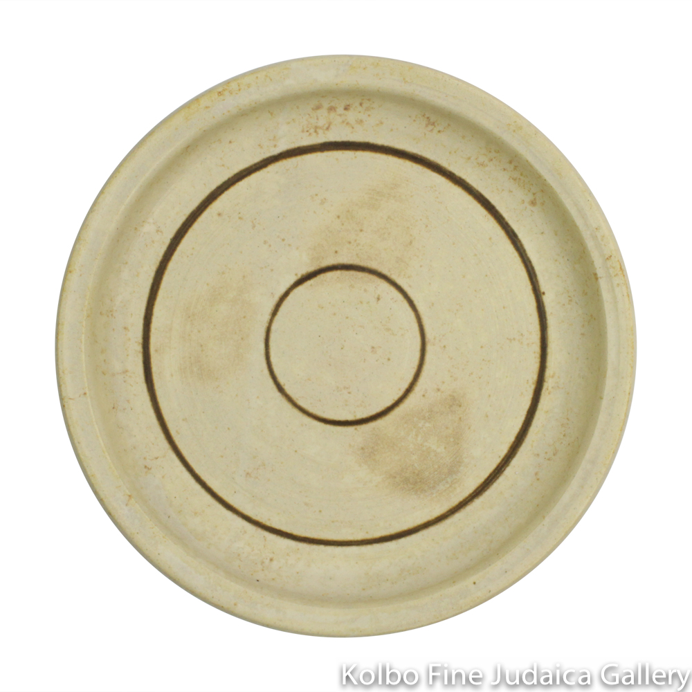 Saucer for Kiddush Cup, Ceramic with Matte Glaze
