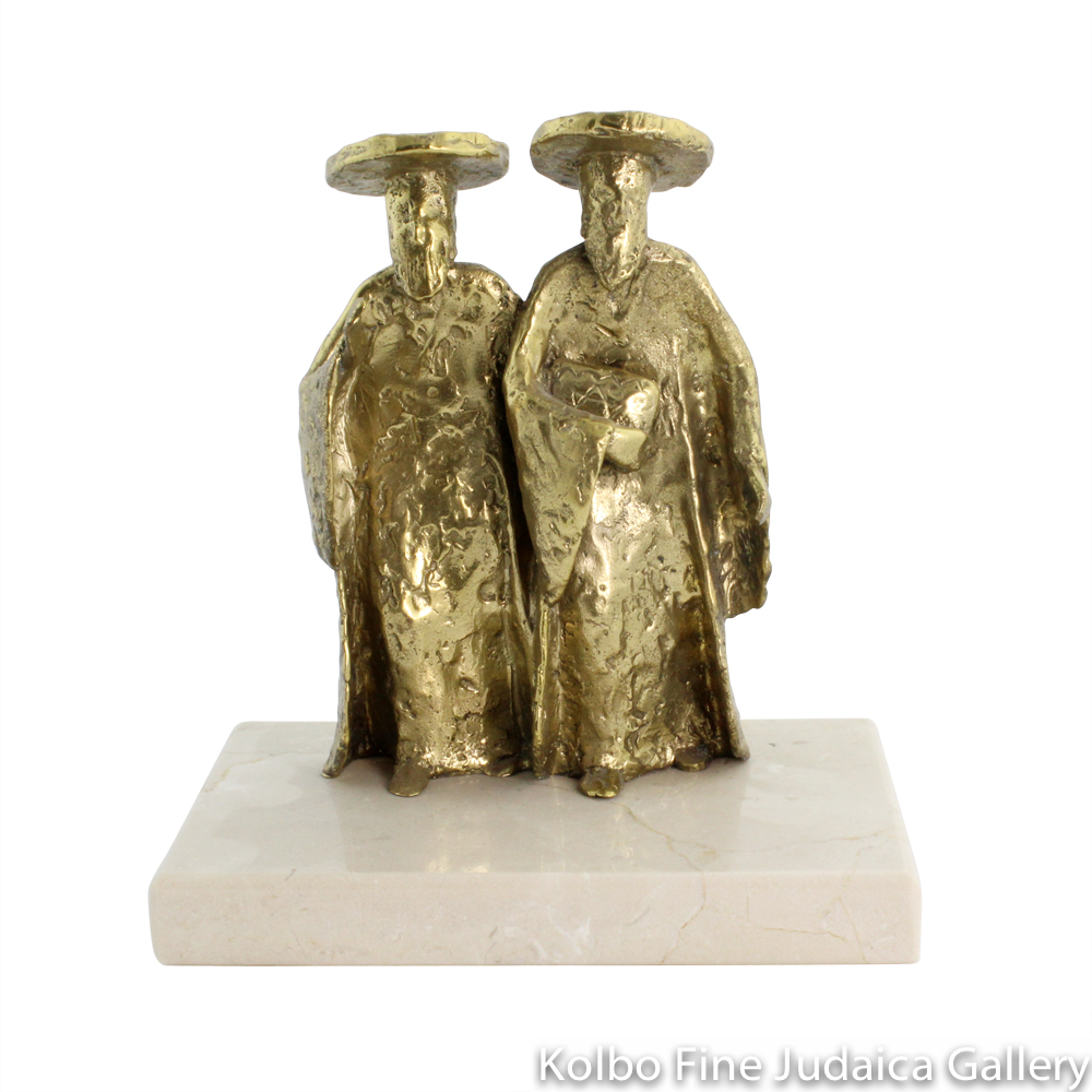 Carrying the Talis, Bronze Sculpture on Marble Base, 7'', Limited Edition of 18 Pieces