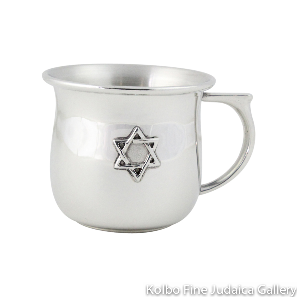 Child's Kiddush Cup, Star with Handle, Pewter