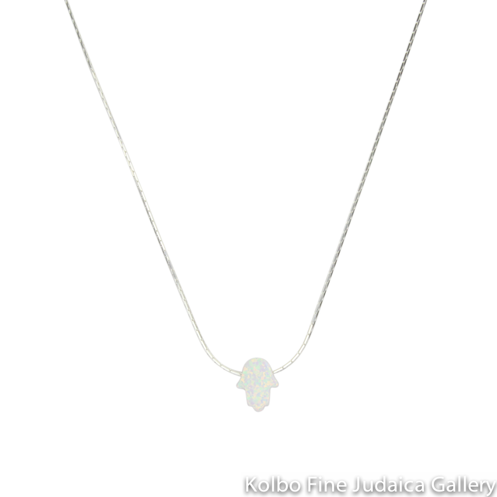 Necklace, Hamsa, Completely Made of Opal
