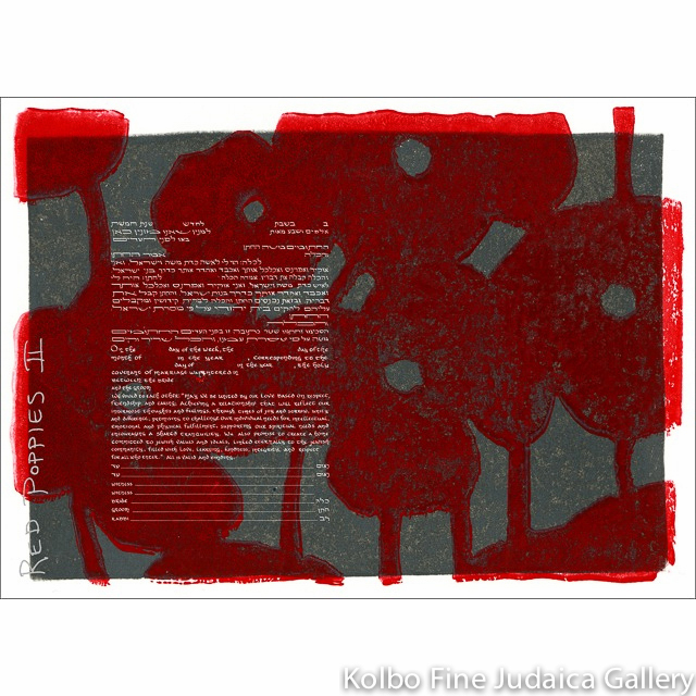 Red Poppies II Ketubah
