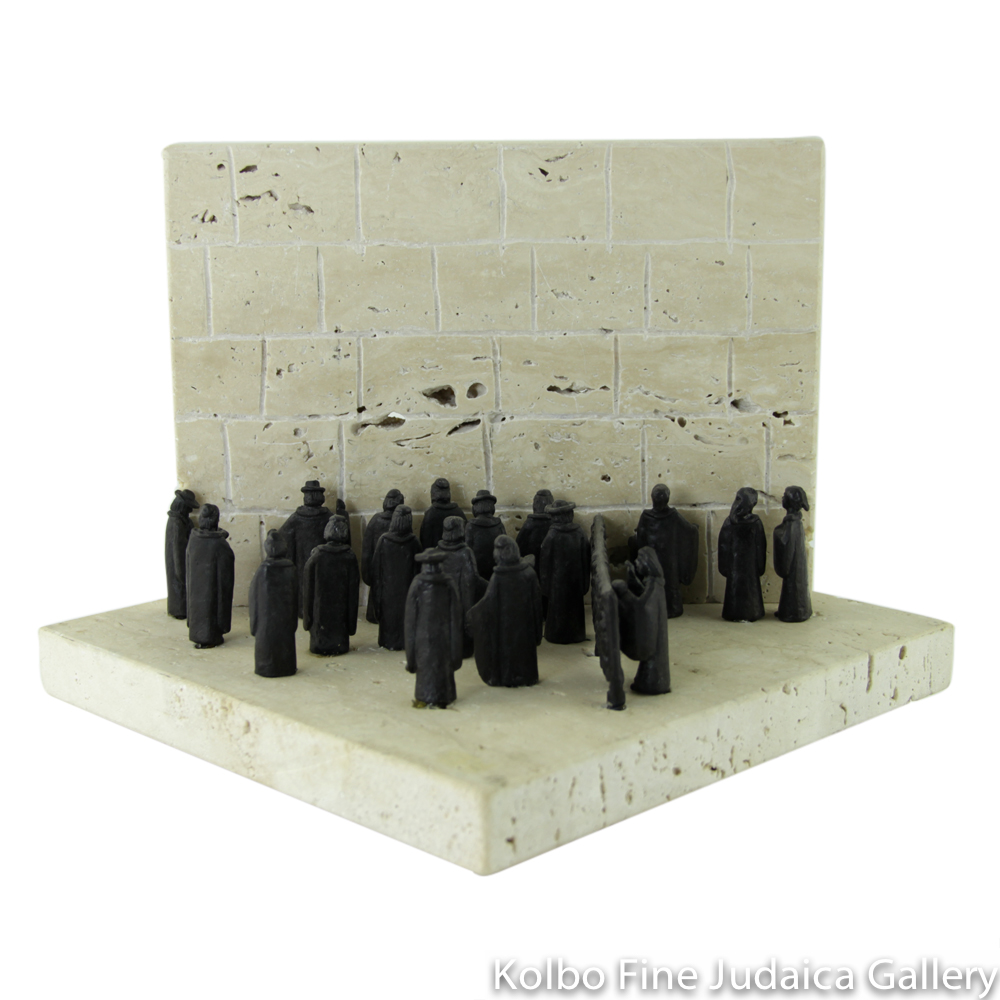 Wailing Wall, Sculpture on Marble Base, 7'', Limited Edition of 36 Pieces