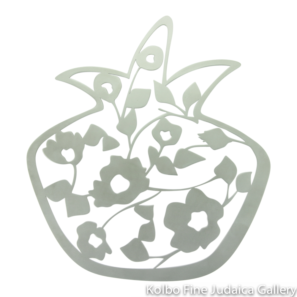 Trivet, Blooming Pomegranates Design, Stainless Steel
