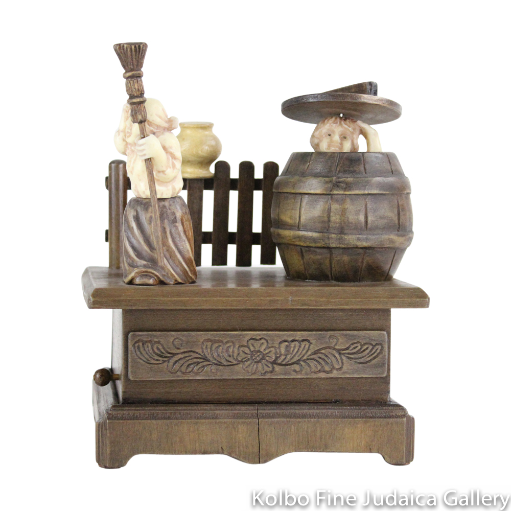 Collectable, Music Box, The Hiding Spot, Hand-Carved from Tagua Nut and Wood
