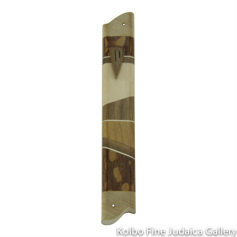 Mezuzah, Hollow Back Without Back Plate, Assorted Woods