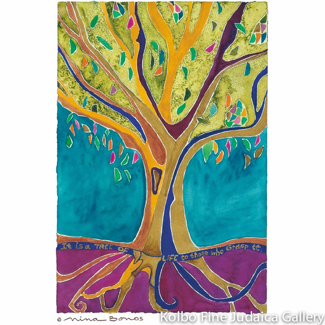Tree of Life II, Giclee Print, Limited Edition, Medium Size, Framed