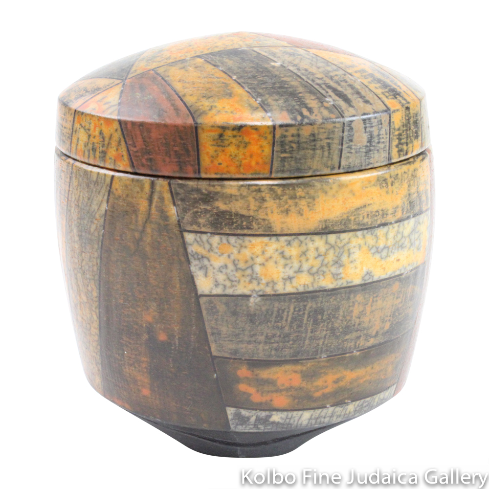 Round Box #4, One-of-a-Kind Stoneware Made Using Terra Sigillata
