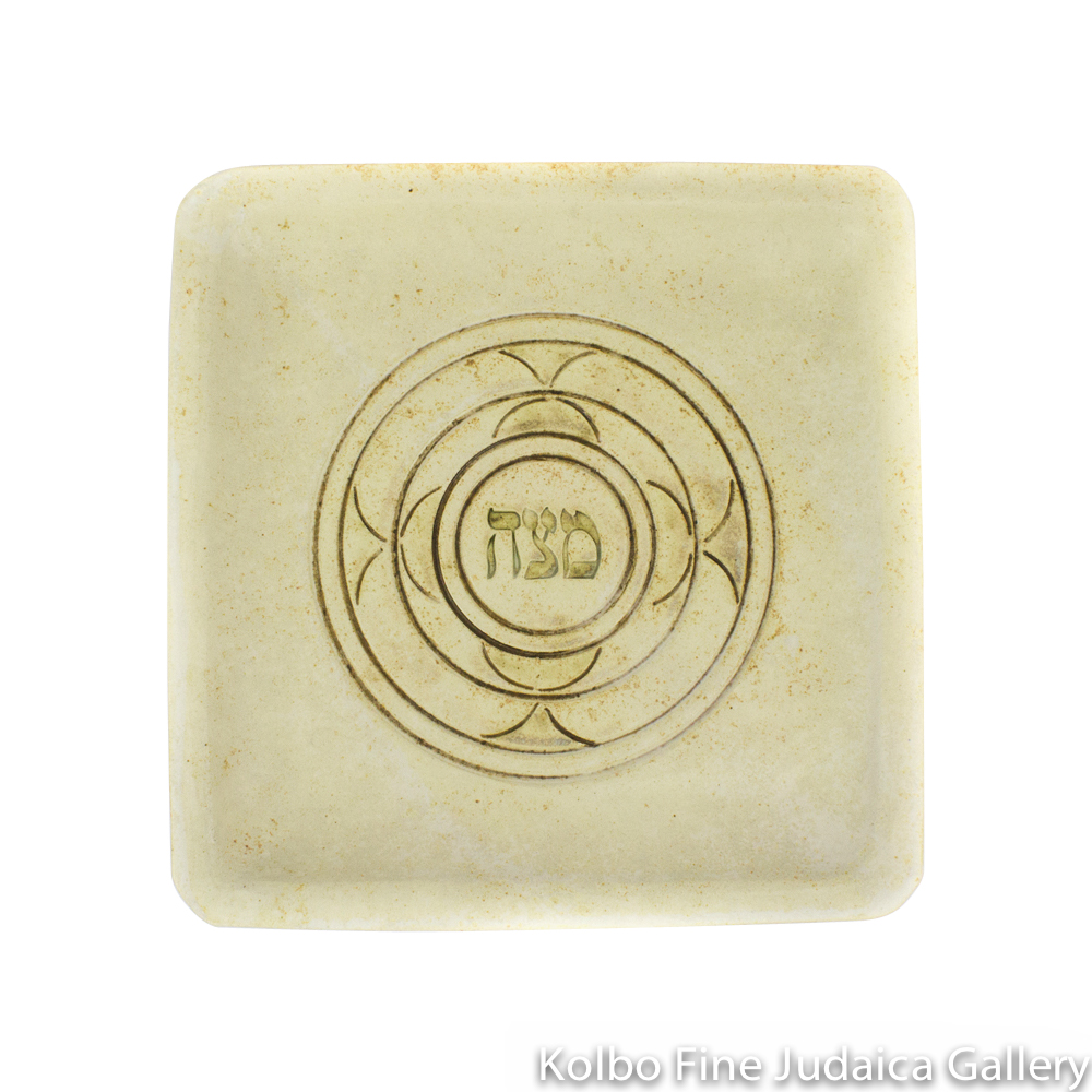 Matzah Plate, Ceramic with Matte Glaze
