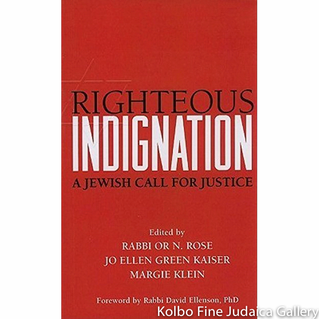 Righteous Indignation: A Jewish Call for Justice, pb