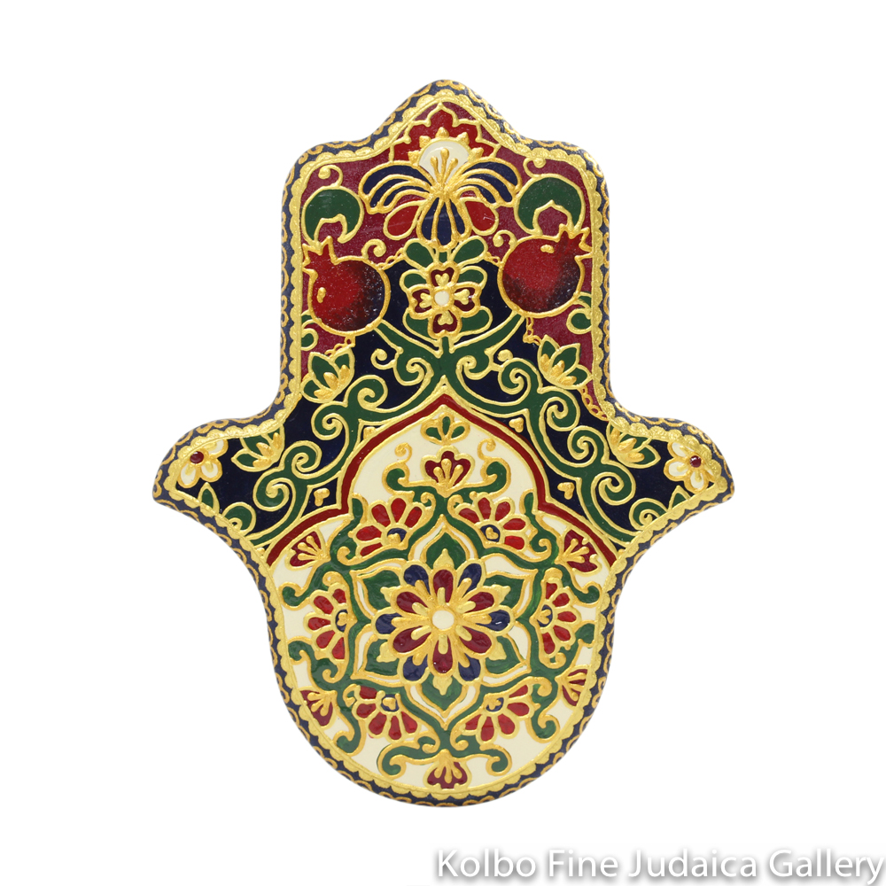 Hamsa, Hand-Painted Wood, 20 cm, One-of-a-Kind, #4