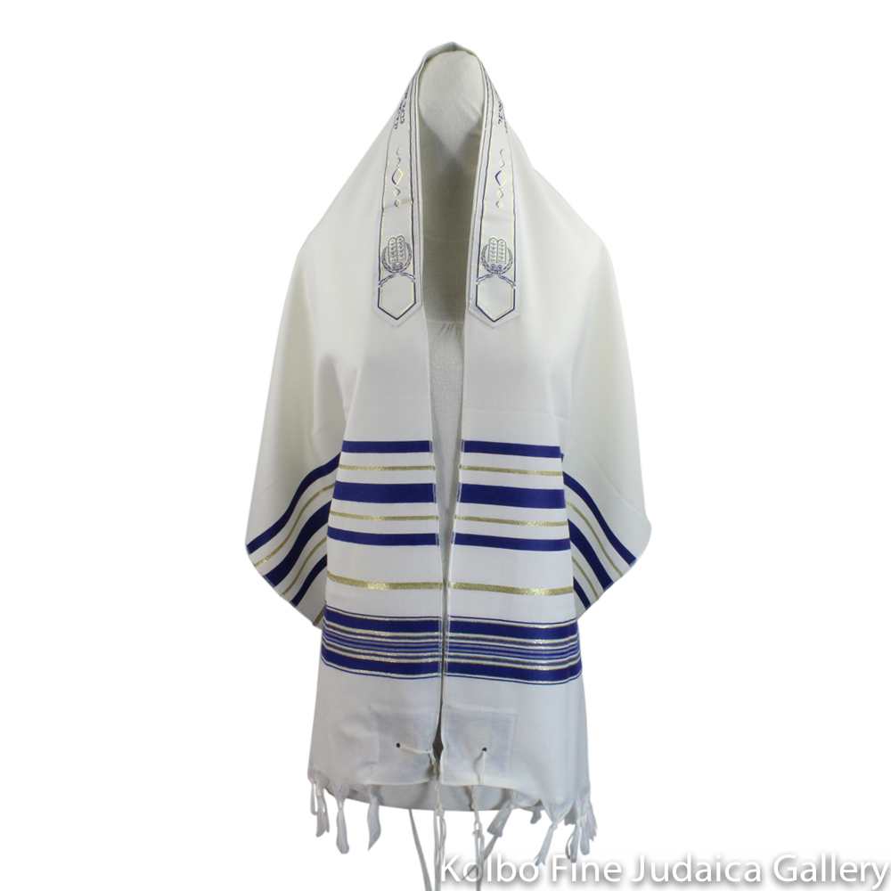 Tallit, Wool with Lurex