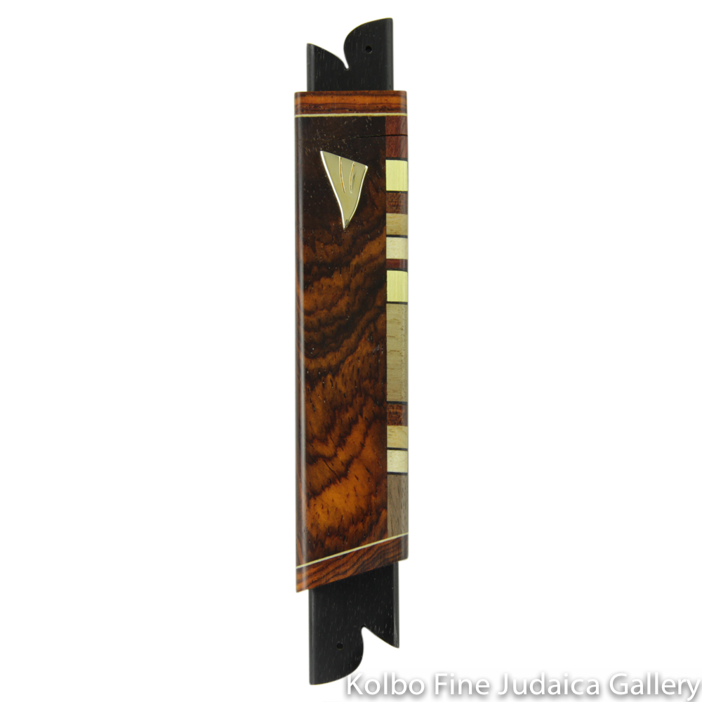 Mezuzah, Cocobolo with Side Inlay