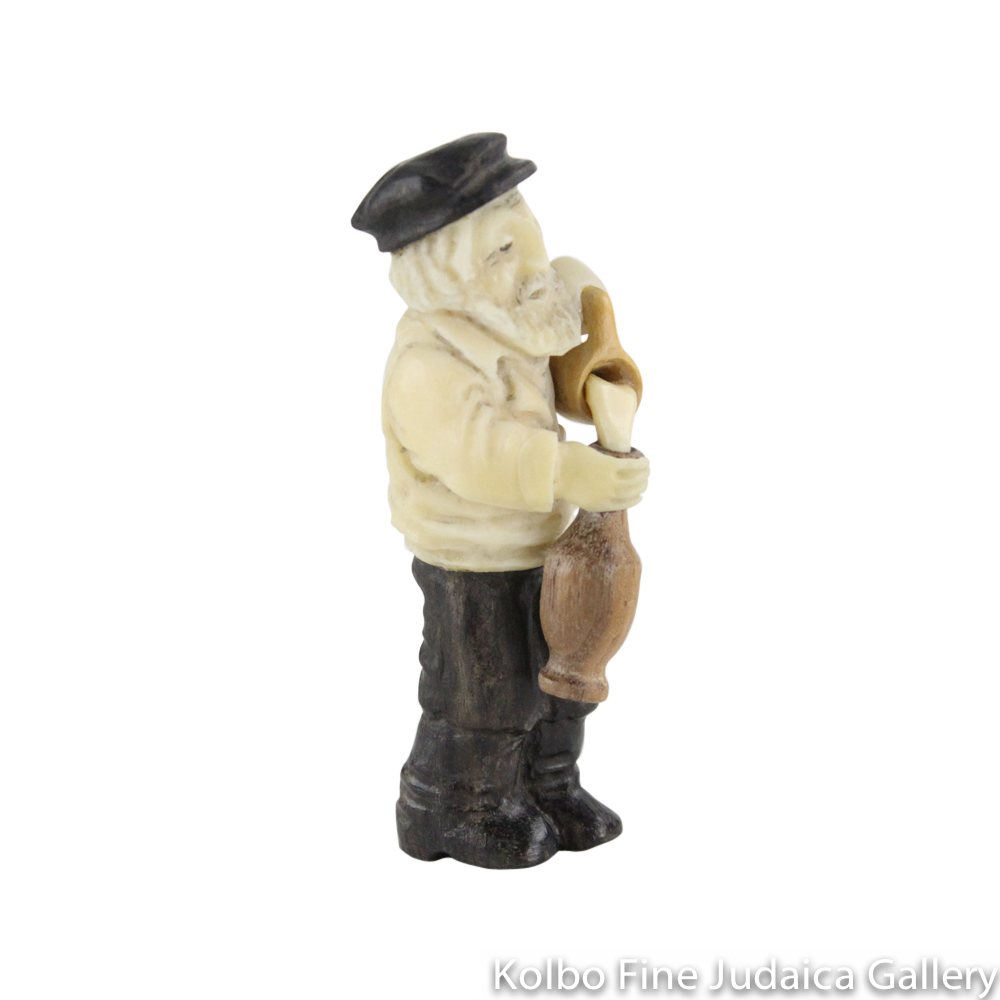 Collectable, Milkman, Larger Size, Hand-Carved from Tagua Nut and Wood