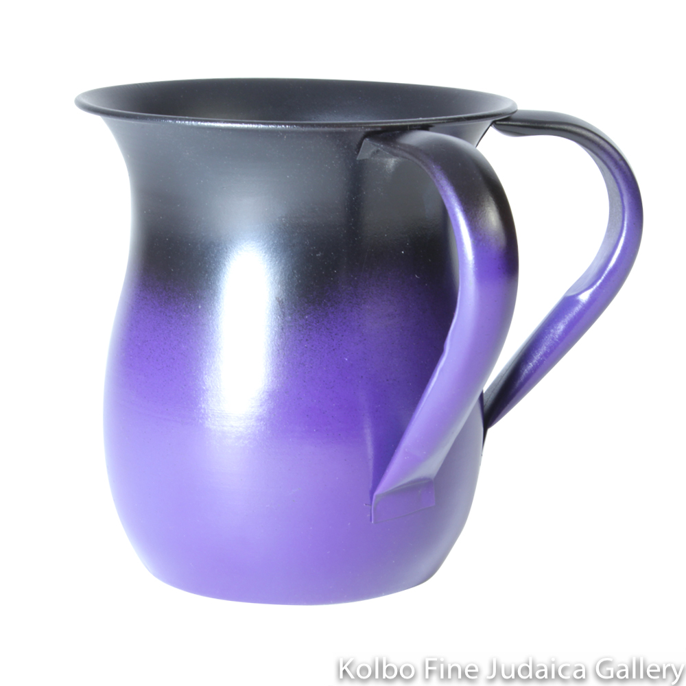 Wash Cup, Purple and Black Paint Over Aluminum