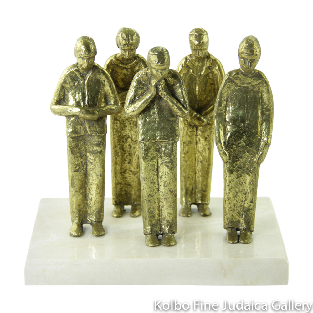 Moment of Silence, Bronze Sculpture on Marble Base, 7'', Limited Edition of 18 Pieces