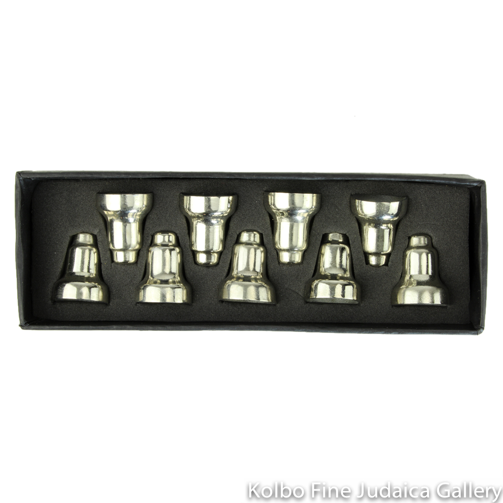 Drip Cups for Menorah, Silver Colored Nickel