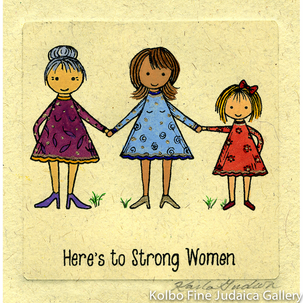 Strong Women, Mini, Hand-Painted, Framed