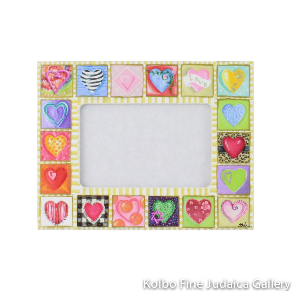 Frame, 4'' x 6'' Horizontal Sweetheart Design, Painted Wood