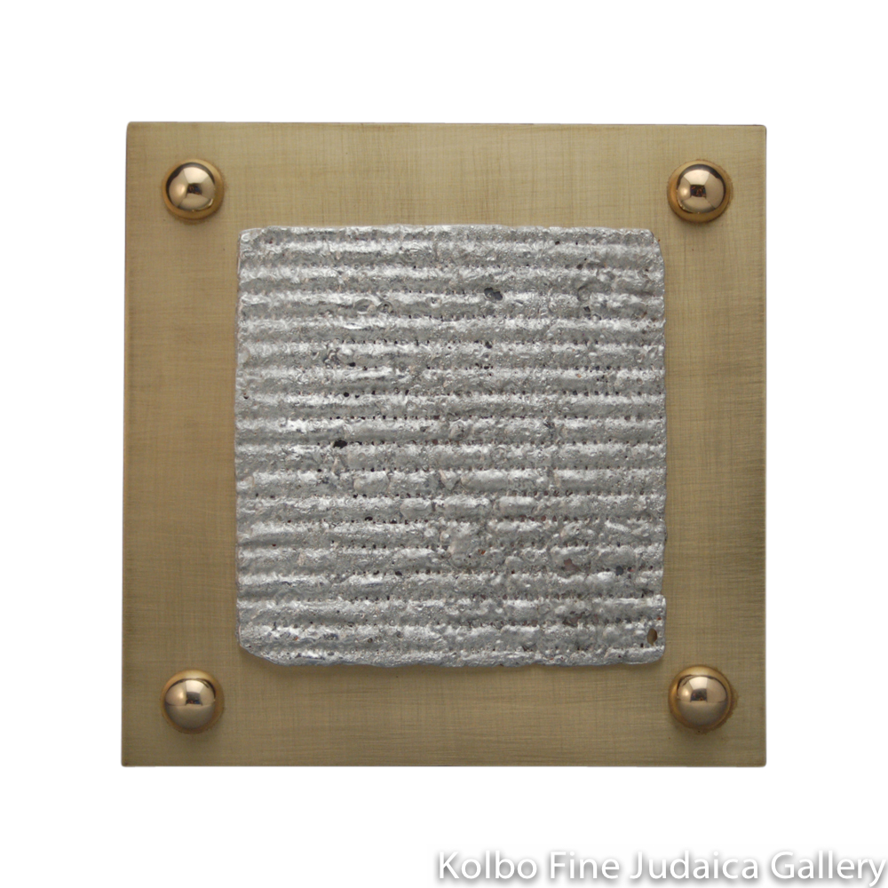 Matzah Plate, Cast Sheet of Brass