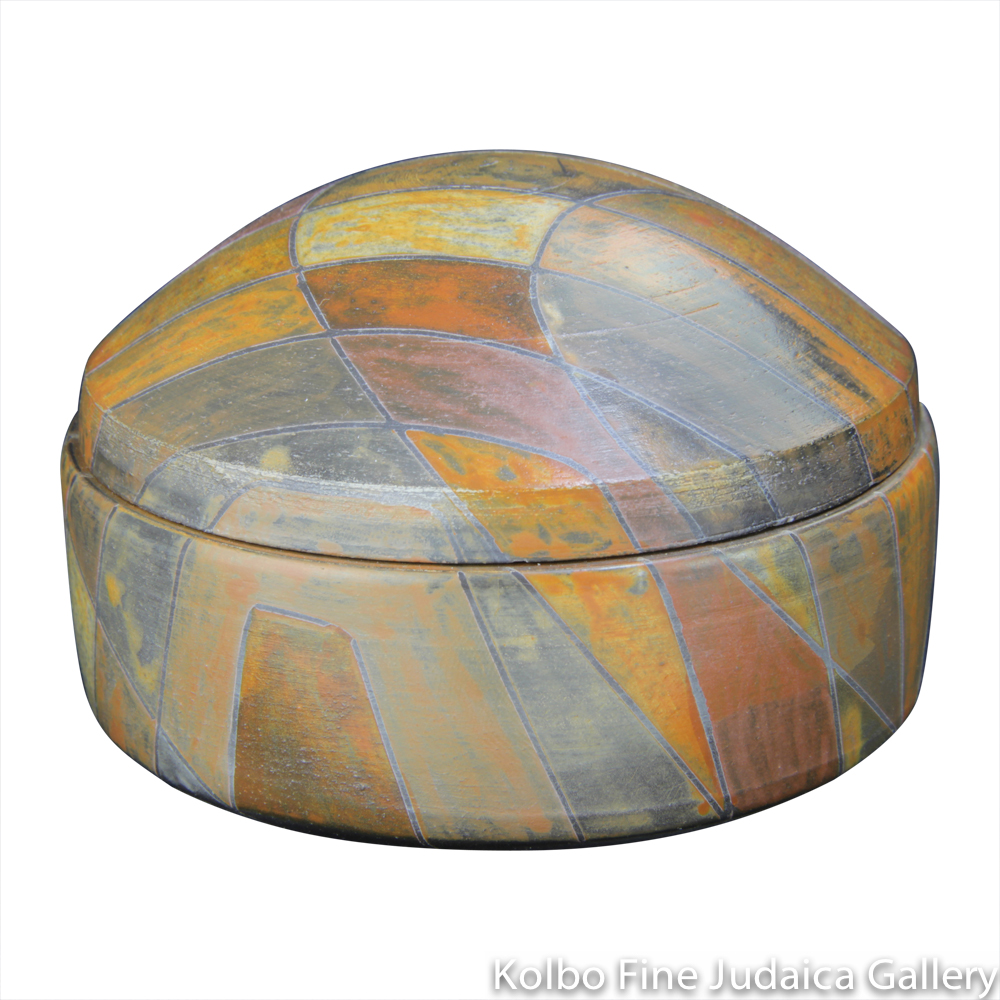 Round Box #5, One-of-a-Kind Stoneware Made Using Terra Sigillata