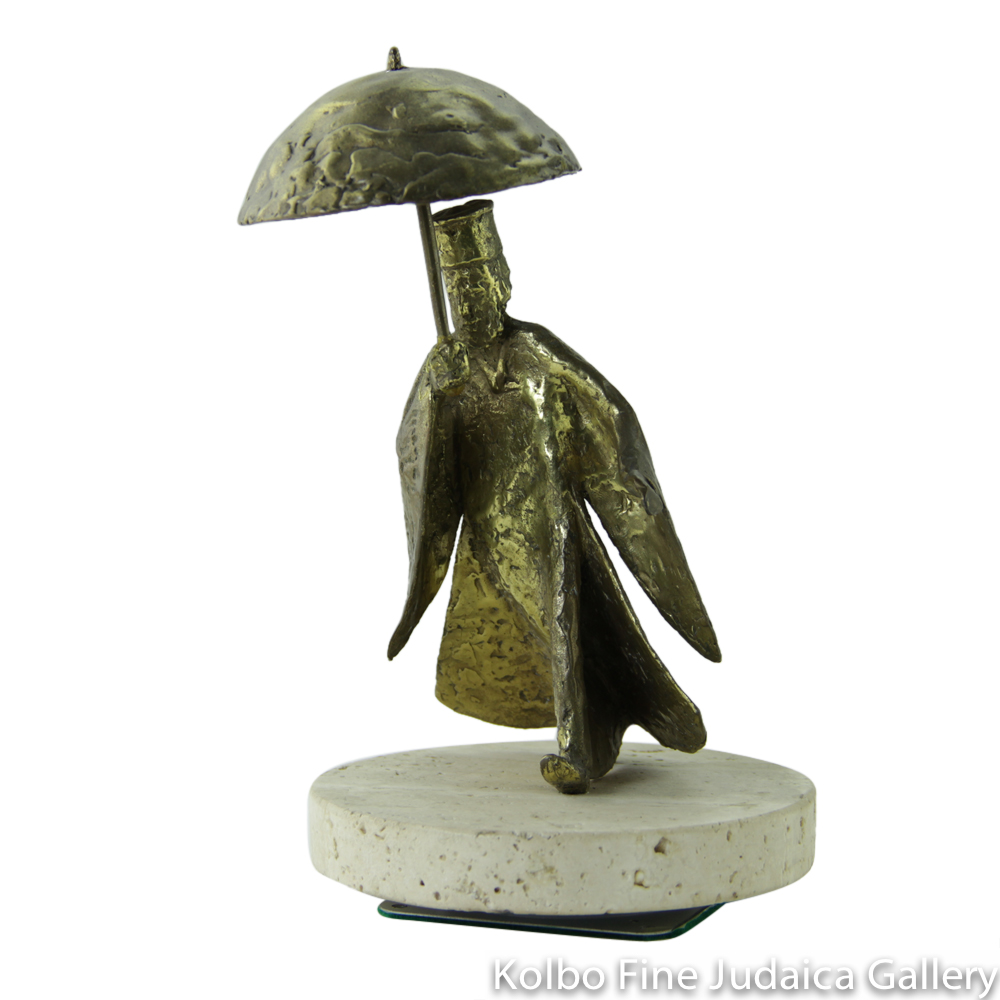 Rain in Jerusalem, Bronze Sculpture on Marble Base, 7'', Limited Edition of 18 Pieces