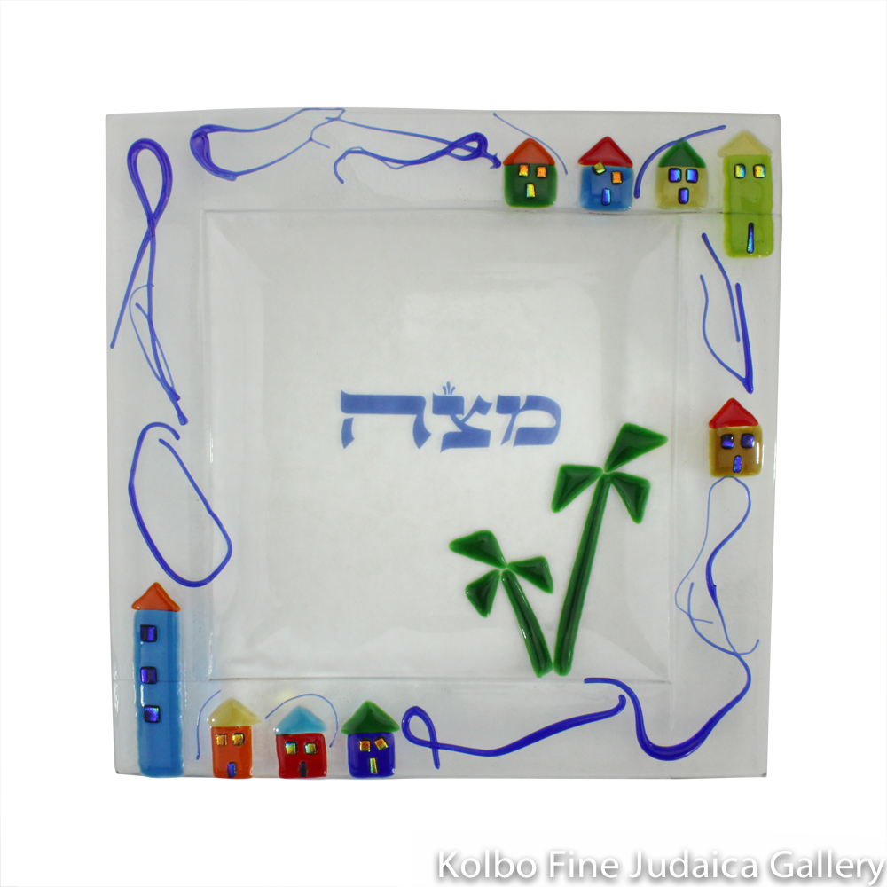 Matzah Plate, Houses Design, Fused Glass