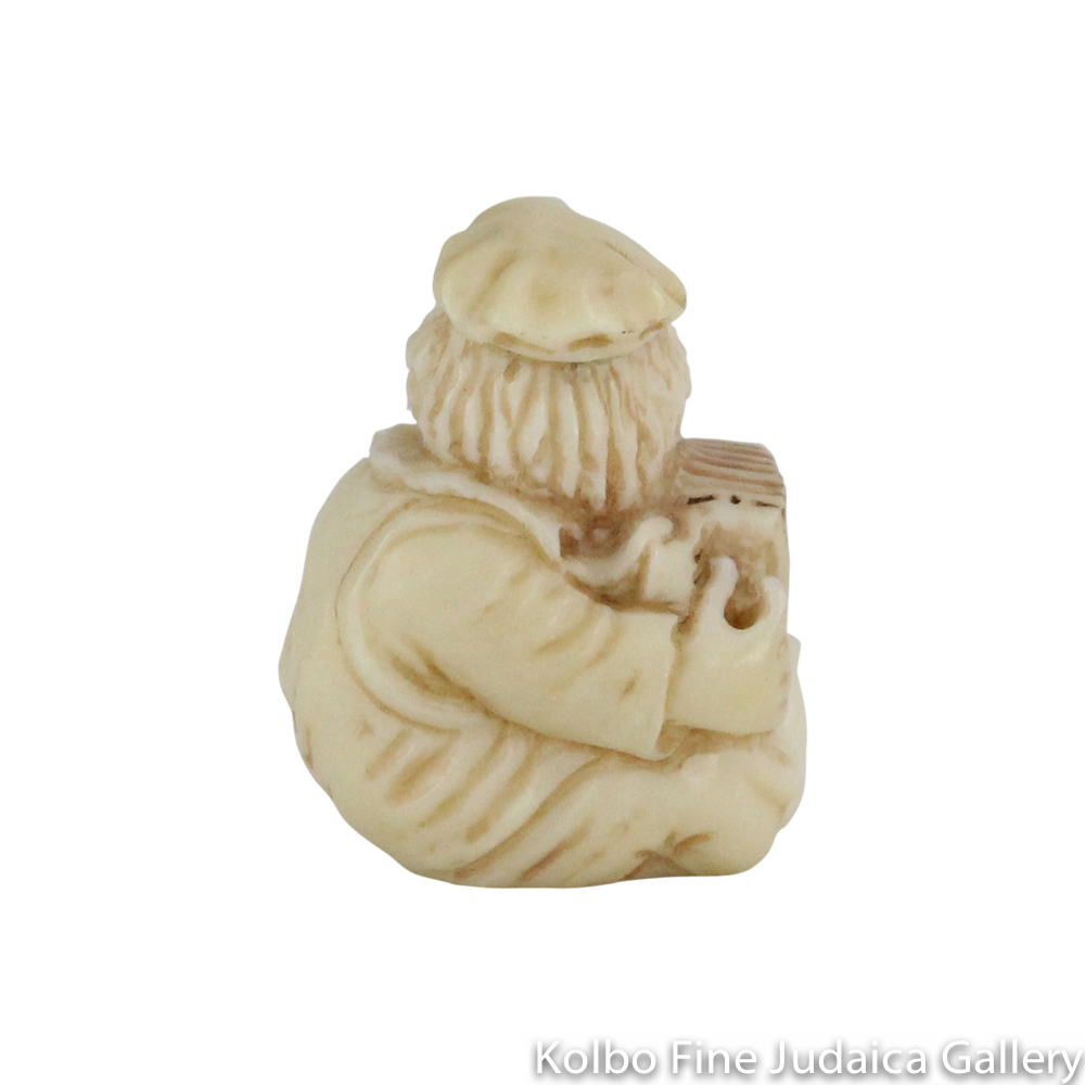 Collectable, Accordion Player, Small Size, Hand-Carved from Tagua Nut