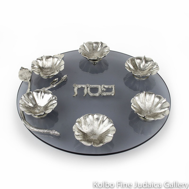 Seder Plate, Aviva Design, Blossoming Bowls on Glass Base