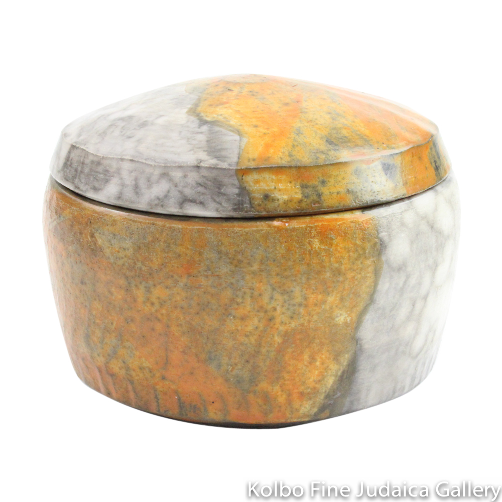 Round Box #2, One-of-a-Kind Stoneware Made Using Terra Sigillata