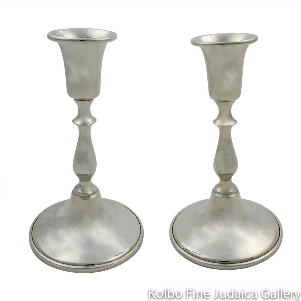 Candlesticks, Traditional Design, Pewter