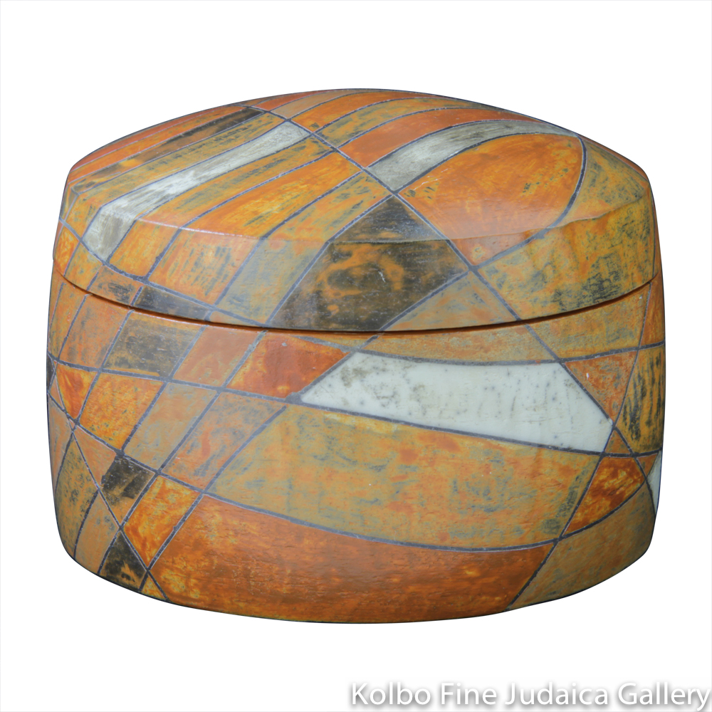 Round Box #7, One-of-a-Kind Stoneware Made Using Terra Sigillata