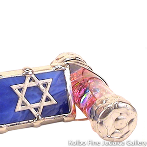 Kaleidoscope and Stand, Simcha Design with Star of David, Cobalt Blue