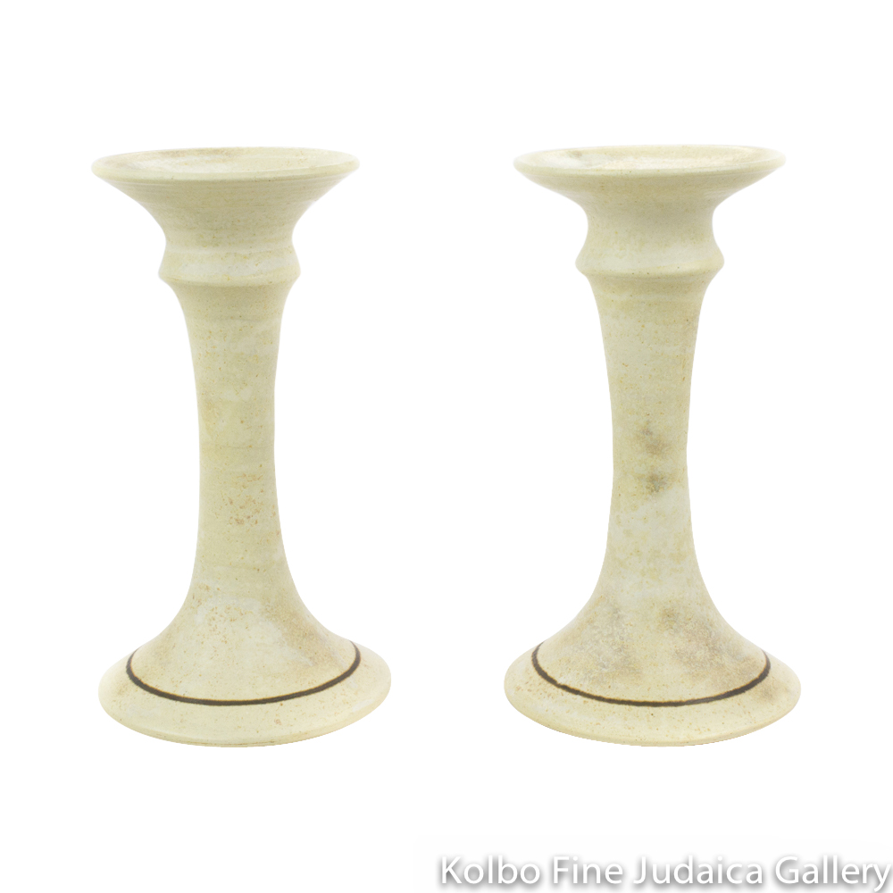 Candlesticks, Ceramic with Matte Glaze