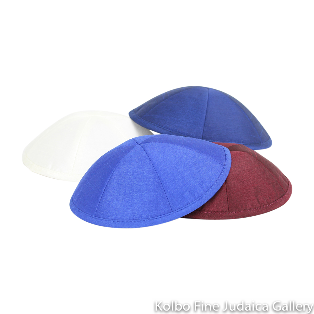 Raw Silk Kippot by the Dozen