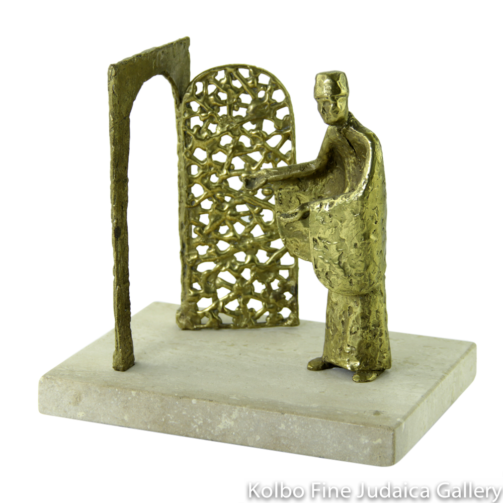 Welcome to the Old City, Bronze Sculpture on Marble Base, 7'', Limited Edition of 18 Pieces