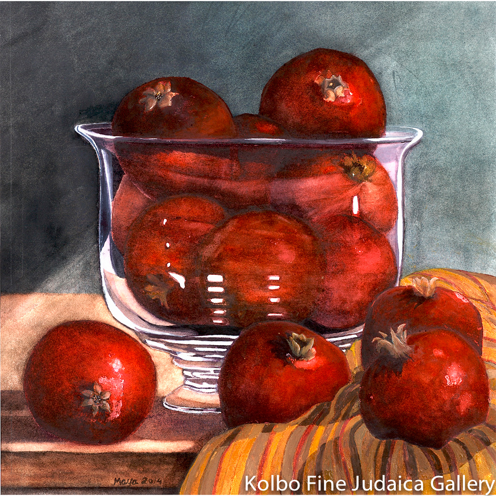 Bountiful Pomegranates, Limited Edition Giclée Print, Framed